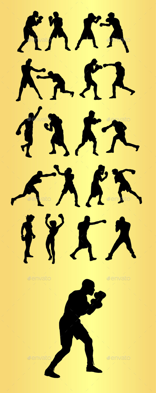 GraphicRiver Boxing Sport Silhouettes 9791734
