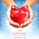 Holiday Christmas Background with Hands - GraphicRiver Item for Sale