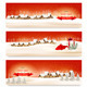 Holiday Christmas Banners with Villages - GraphicRiver Item for Sale