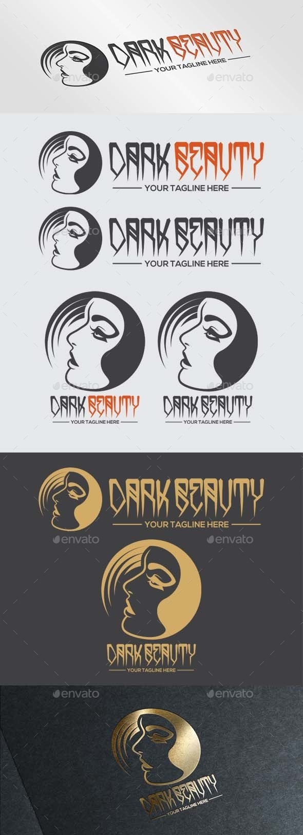 GraphicRiver Dark Beauty Logo 9791984