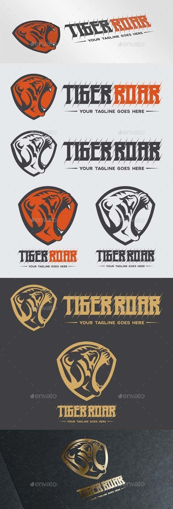 GraphicRiver Tiger Roar Logo 9792004
