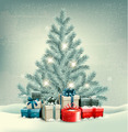 Christmas tree with presents background - PhotoDune Item for Sale