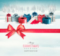 Holiday Christmas background with colorful gift boxes  - PhotoDune Item for Sale