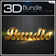 New 3D Collection Text Effects Bundle - GraphicRiver Item for Sale