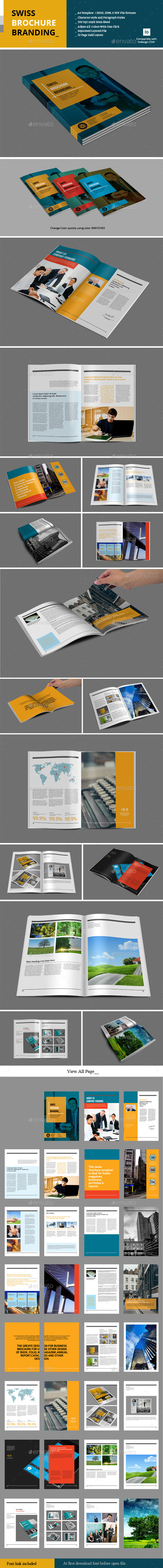 GraphicRiver Swiss Brochure Branding 9792495