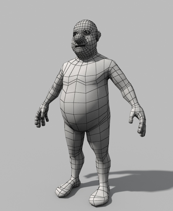 3DOcean Base Mesh Fat Stylized Man 9792604