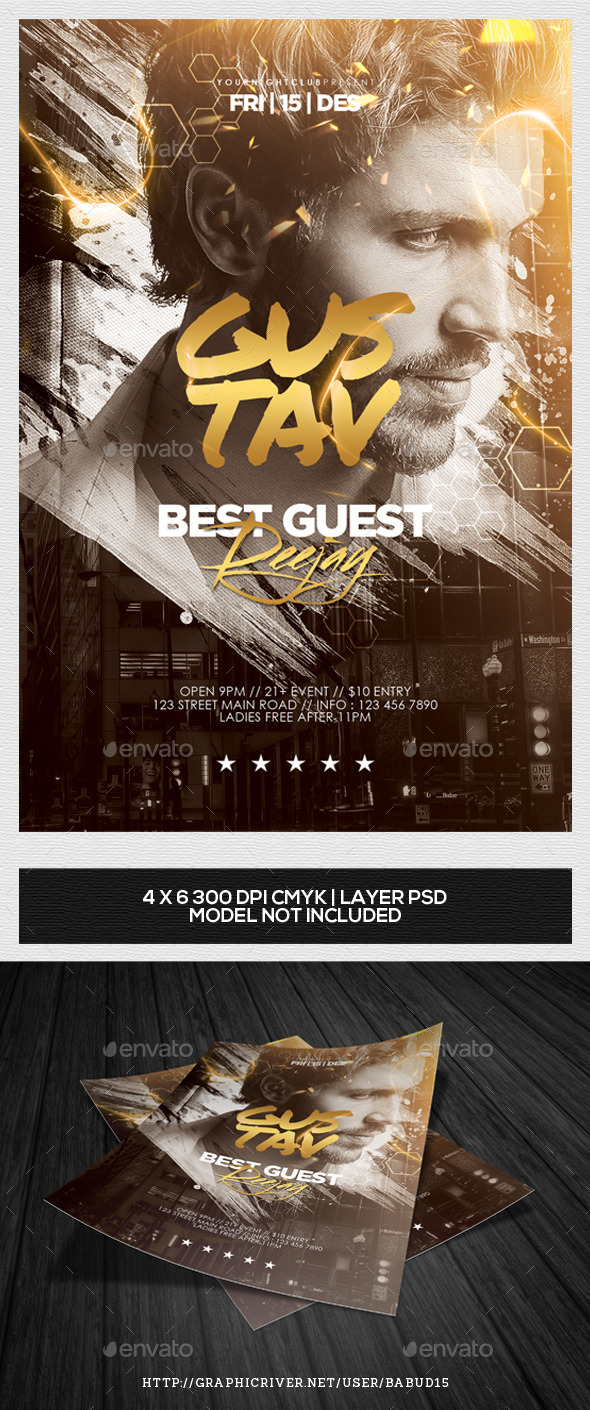 GraphicRiver Best Guest DJ Flyer Template Vol 2 9723085