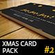 6 Christmas Greeting Cards - Golden Foil Design