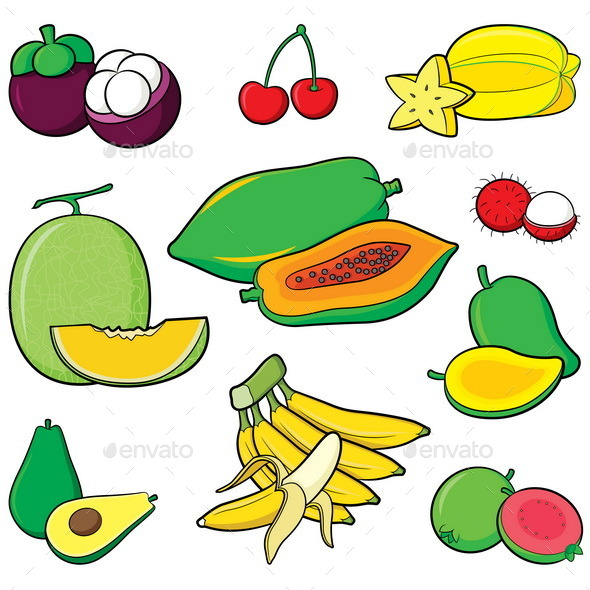 GraphicRiver Fruits Set 9792675