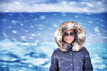 Happy woman on winter vacation - PhotoDune Item for Sale