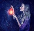 Beautiful woman with magic lantern - PhotoDune Item for Sale
