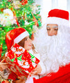 Receive present from Santa Claus - PhotoDune Item for Sale