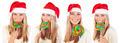 Cute Santa girl with lollipop - PhotoDune Item for Sale