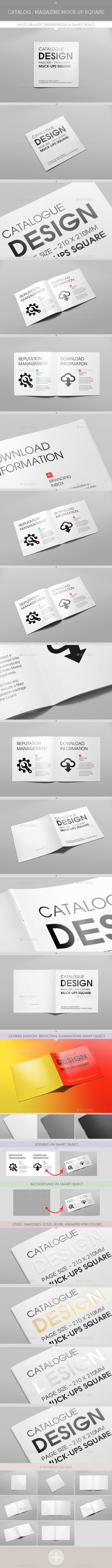 GraphicRiver Catalog Magazine Mock-Up Square 9793316