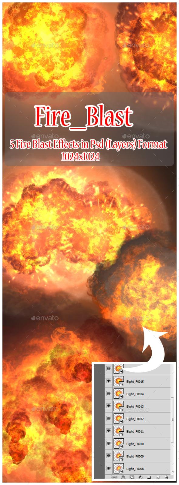 GraphicRiver Fire Blast 9793351