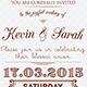Vintage Wedding Invitation Card - GraphicRiver Item for Sale