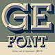 Old School Beveled Alphabet - GraphicRiver Item for Sale