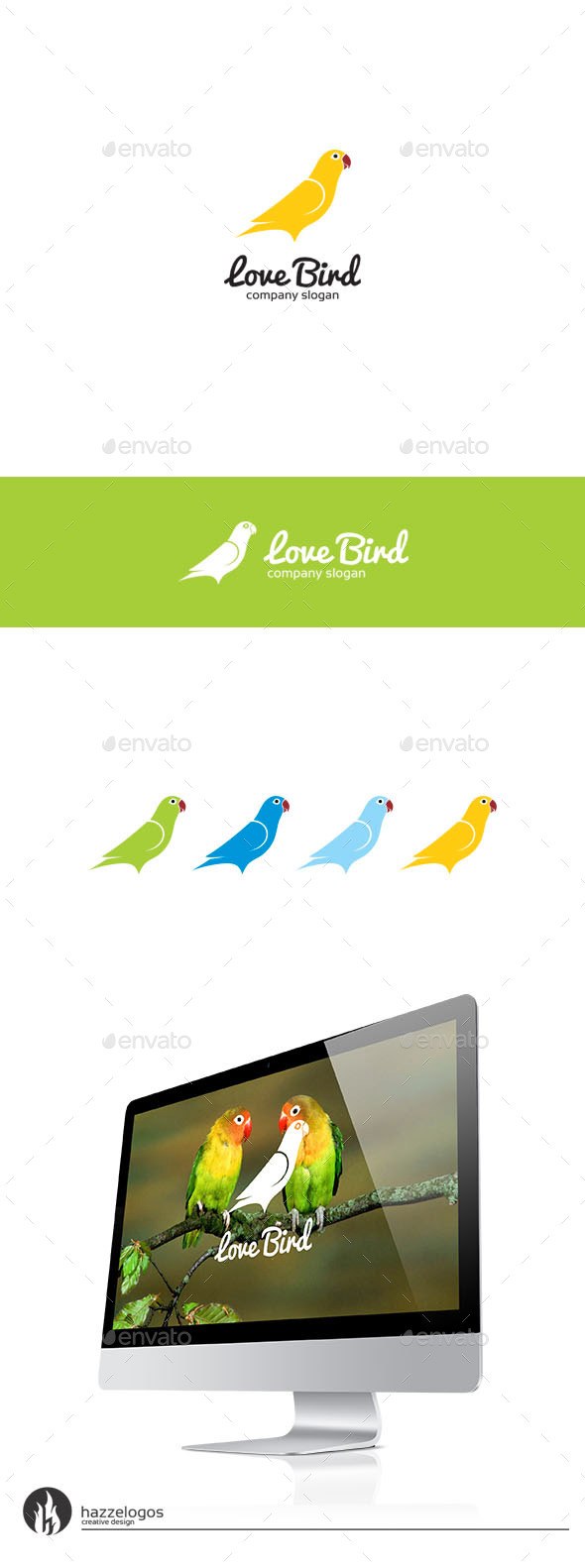 GraphicRiver Love Bird Logo 9793519