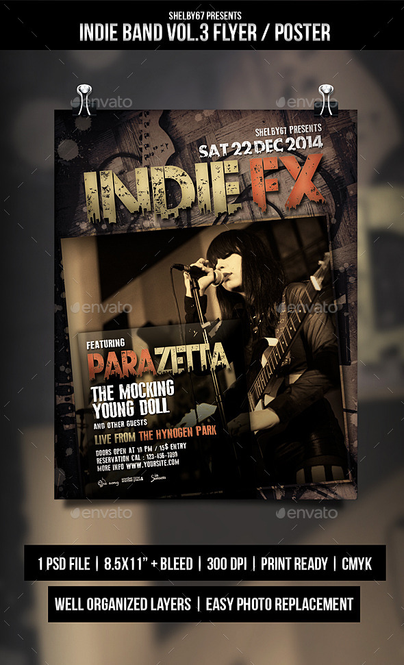 GraphicRiver Indie Band Flyer Poster Vol.3 9793594