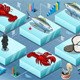 Isometric Infographic of Marine Life - GraphicRiver Item for Sale