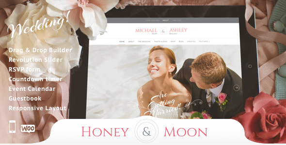 Honeymoon - Wedding Responsive Theme - Wedding WordPress