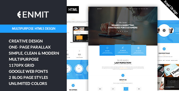 ThemeForest Enmit Multi-Purpose HTML5 Template 9793715