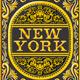 Vintage New York Label Plaque, Black and Gold - GraphicRiver Item for Sale