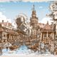 Vintage View of Fish Market Canal in Gouda - GraphicRiver Item for Sale