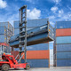 Crane lifter handling container box loading to truck  - PhotoDune Item for Sale