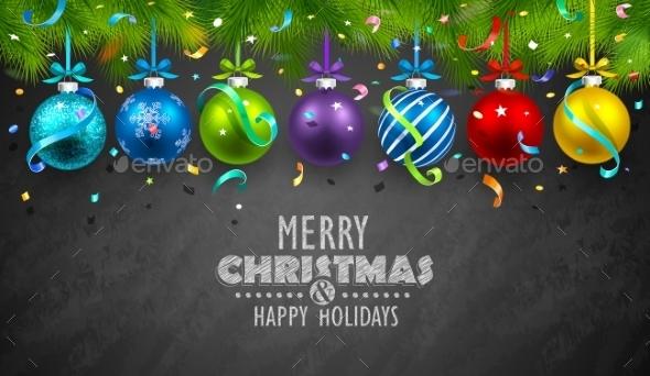GraphicRiver Christmas Balls and Confetti 9793769