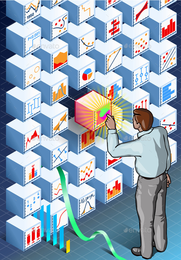 GraphicRiver Isometric Infographic with Standing Man 9793809