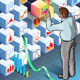 Isometric Infographic with Standing Man - GraphicRiver Item for Sale