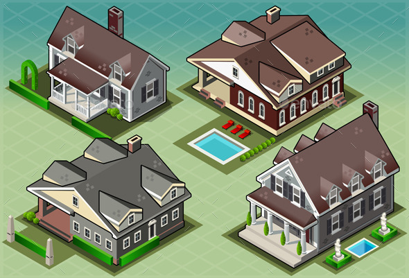 GraphicRiver Isometric Historic American Building 9793816