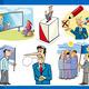 cartoon politics concepts set - PhotoDune Item for Sale