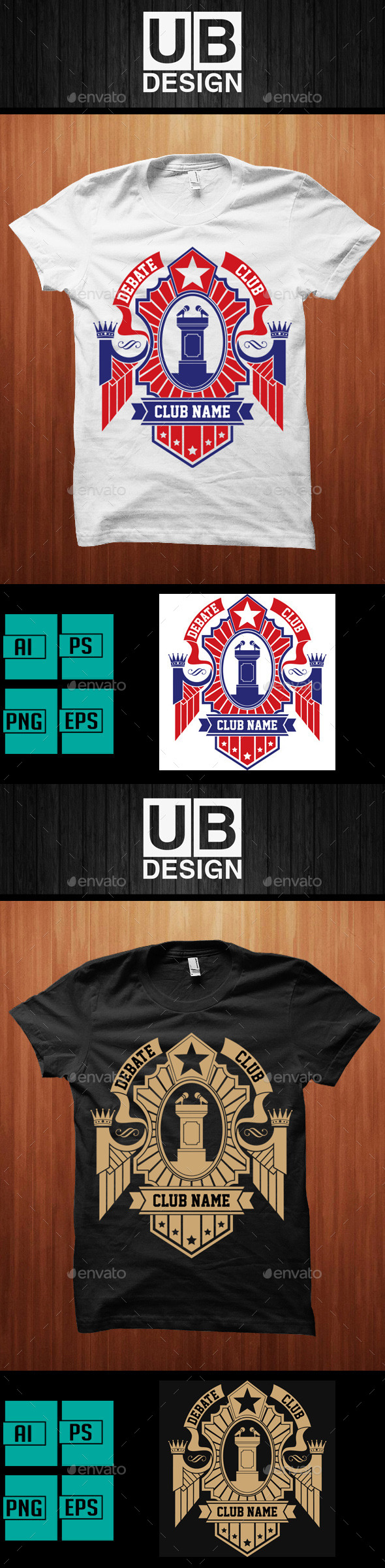 GraphicRiver Debate Club Shirt 9793931