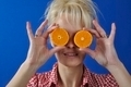 Portrait of womanwith a clementine - PhotoDune Item for Sale