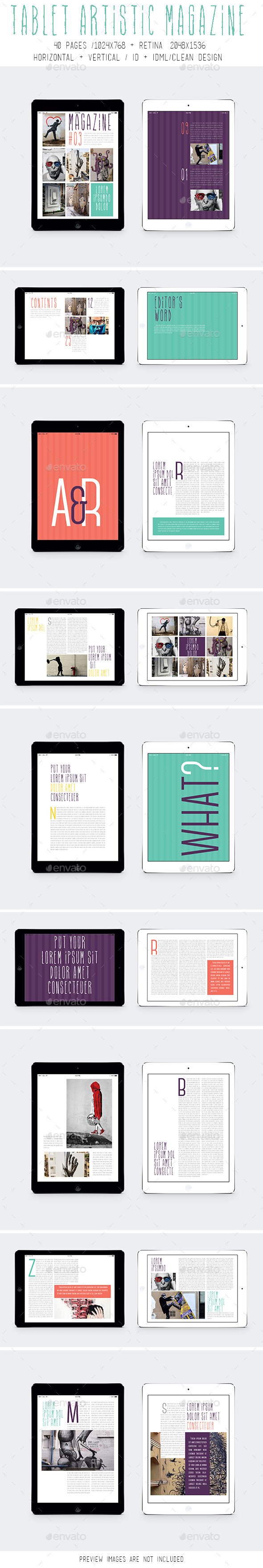GraphicRiver Ipad & Tablet Artistic Magazine 9794744