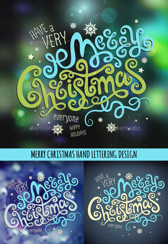 GraphicRiver Christmas Hand Lettering Set 9794752