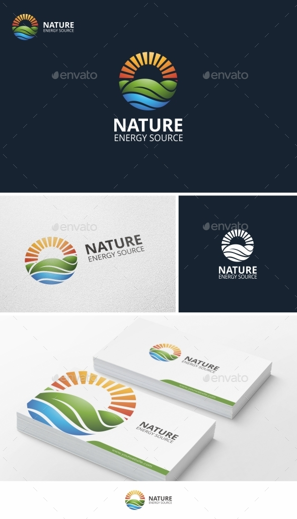 GraphicRiver Nature Energy Logo Template 9794757
