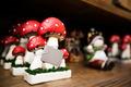 Red Winter Mushroom Statues Macro - PhotoDune Item for Sale