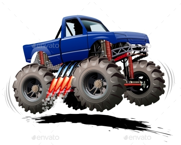 GraphicRiver Cartoon Monster Truck 9794891