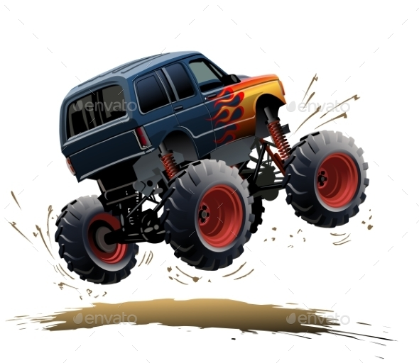 GraphicRiver Cartoon Monster Truck 9794897
