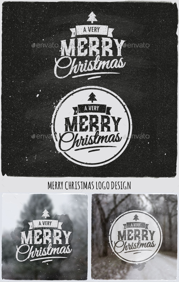 GraphicRiver Christmas Typographic Design Emblem 9794944