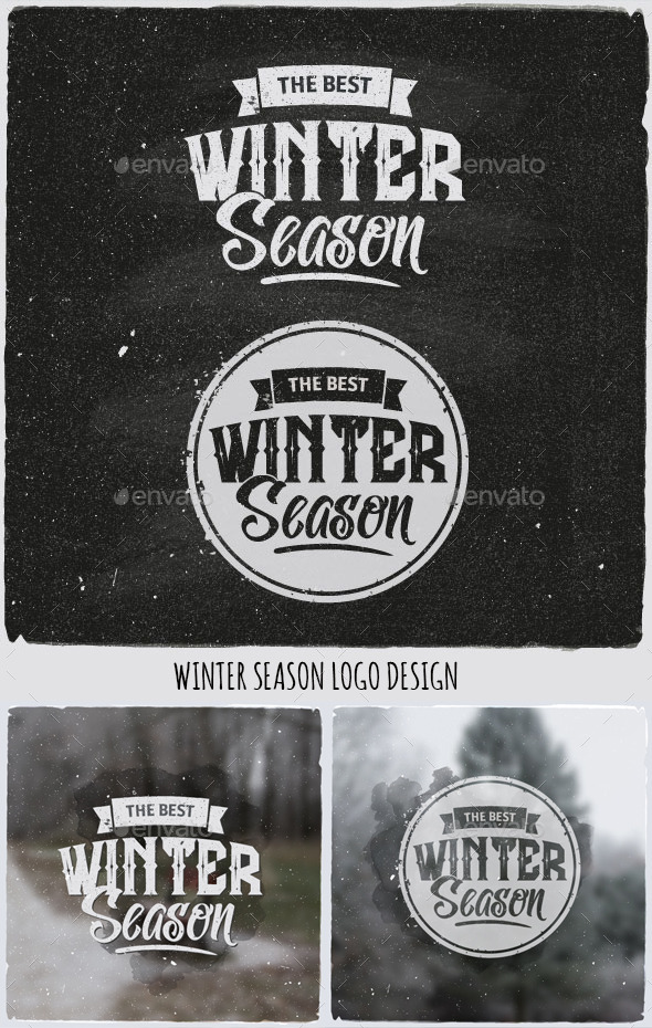 GraphicRiver Winter Typographic Design Emblem 9795017