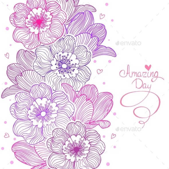 GraphicRiver Flowers Stripe Design 9795054