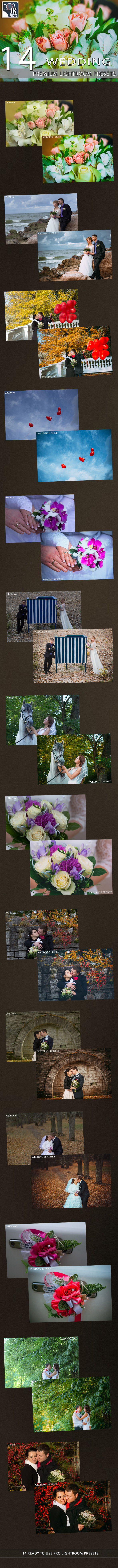 GraphicRiver 14 Wedding Lightroom Presets 9795089