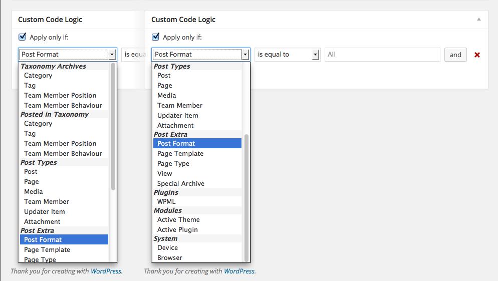 Fresh Custom Code - WordPress Plugin