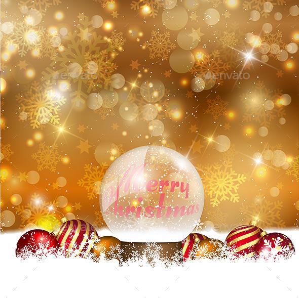 GraphicRiver Christmas Snow Globe 9795279
