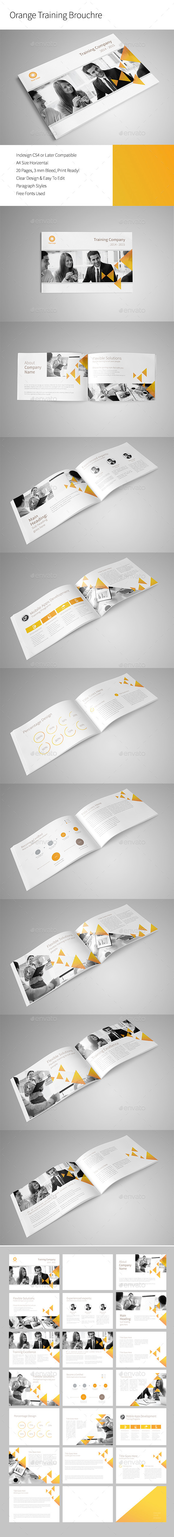 GraphicRiver Orange Training Brochure 9795288