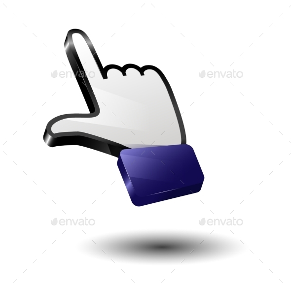 GraphicRiver Finger Icon Arrow 9795312